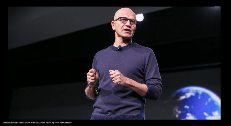 Microsoft CEO Satya Nadella speaks at NRF 2020 Vision: Retail's Big Show